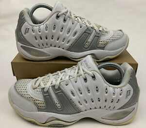 T22 Tennis Shoes Lace Up White Silver