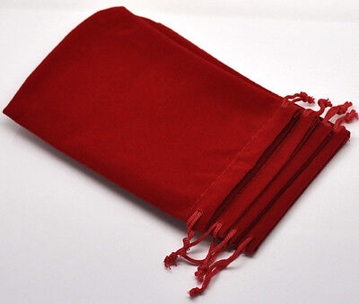 10 15x10cm Red Velvet Pouches Jewellery Bags With Drawstring