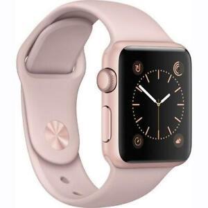 Apple Watch Series 2 38mm Aluminum Case Sport Band Pink Rose Gold Black Ebay