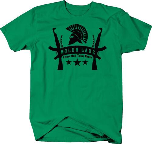 Molon Labe Come and Take ThemAssault Rifle Gun Rights  Color T-Shirt
