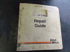 Ditch Witch Jet Trac Guided Boring System Service Parts And Operators Manuals
