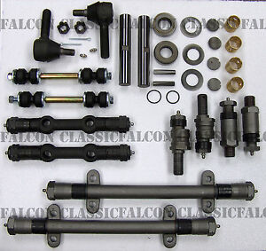 Cadillac-Deluxe-Front-End-Suspension-Kit-Tie-Rod-Ends-Control-Arms-1950-53