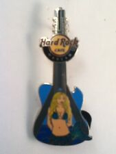 Hard Rock Cafe Pin Warsaw Mermaid Bridge Blue Guitar 2011