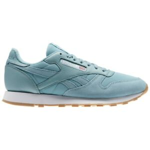 2cbd6dfdd1fa50 Reebok Classic Leather Mu (WHISPER TEAL WHITE) Men s Shoes BS9724 ...