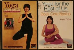 2 yoga for the rest of us with peggy cappy workout dvd lot