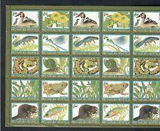 erinnofili pro natura elvetica WWF foglietto ( pieghe ) cod.fra.954