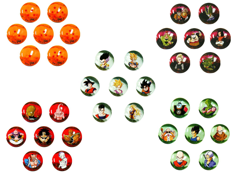 Marbles DragonBall Z. Collection full full full of 35 balls glass de 22mm 972067