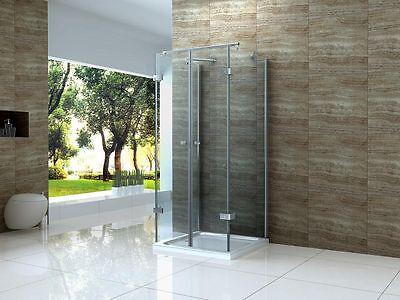 ISOLA 90 x 90 x 180 cm U Form Dusche Glas Duschkabine Duschabtrennung Runddusche