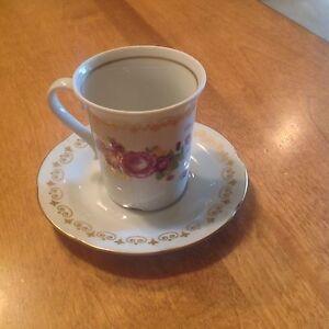 Vintage JLMenau Teacup and Saucer Made Germany Democratic Republic