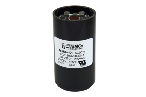 TEMCo 189-227 MFD uF Electric Motor Start Capacitor 220-250VAC Volt HVAC 5 pc