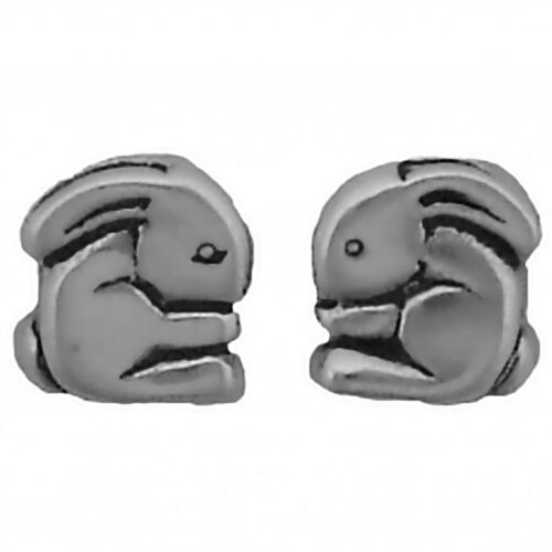 Bunny Earrings Sterling Silver Posts Studs Tiny Mini Rabbit Animal