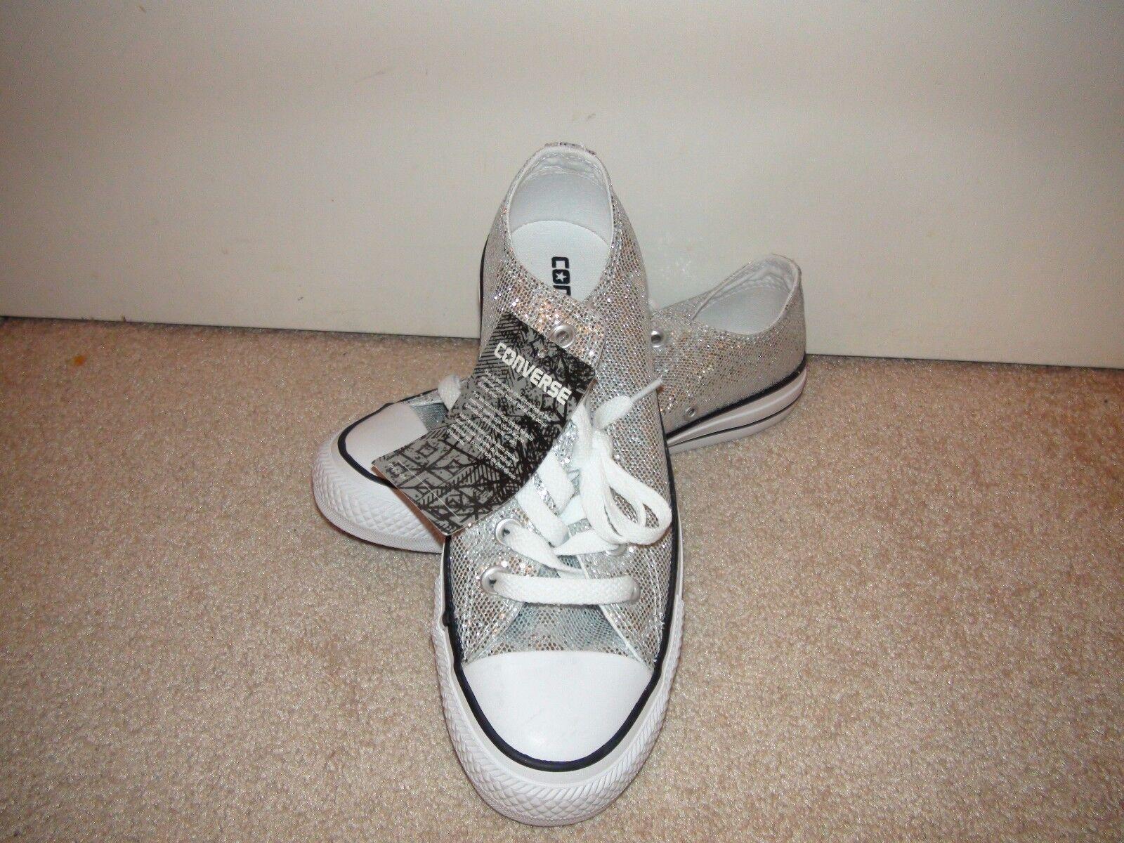 L'Ox  All -Star Lo Top scarpe da ginnastica Chuck Taylor argento Glitter 135851C NWT  grandi offerte