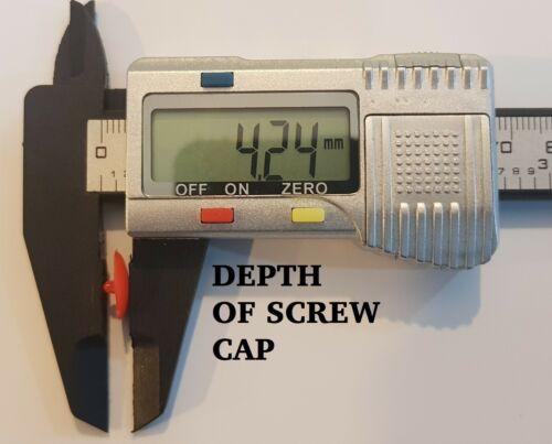 8G Brown 5 PZ-plastica Pozi Drive TAPPO A VITE copre Clip Push Fit Small 6G