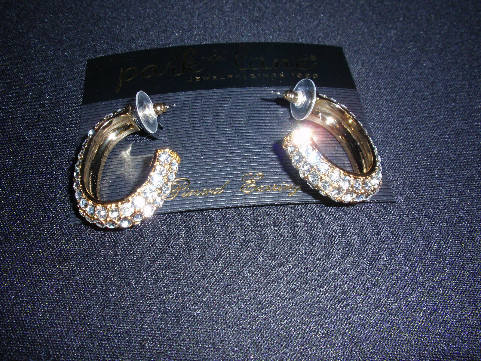 Park Lane Jewelry,  AMAZING  Earrings, goldtone, Clear Crystals, NEW