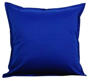 Image Is Loading Two Royal Blue Throw Pillows With Insert Cotton