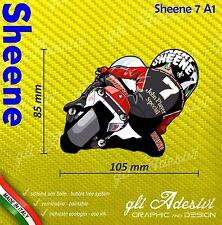 Adesivo Moto Barry Sheene caricatura stickers carene casco 9 x 10 cm