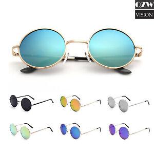Unisex About Style Classic Round Sunglasses Lennon Details John Vintage Mirrored Circle Retro WDHE9I2