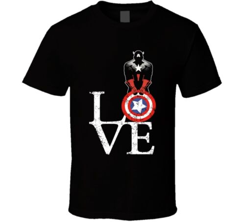 Captain America Love Civil War Superhero Movie Fan T Shirt