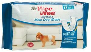 Four-Paws-Wee-Wee-Disposable-Male-Dog-Wraps-X-Small-Small-12-Per-Pack