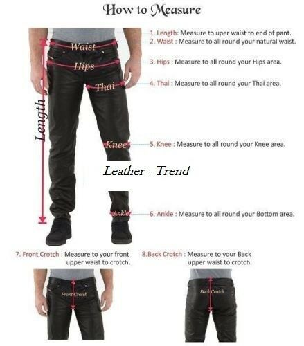Leather Lambskin 055 Soft Trouser Mens Classic Fitted Motorcycle Pants aZPwBa