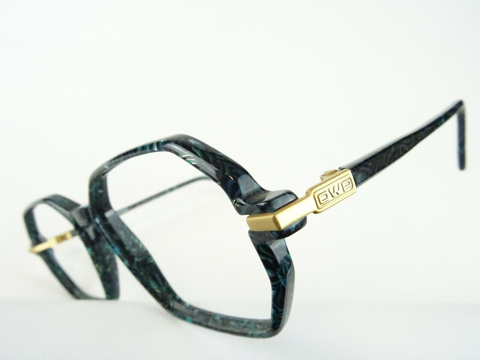 OWP Herrenbrille Brillenfassungen Kunststoff Neu eckige Form grün schwarz Gr. L