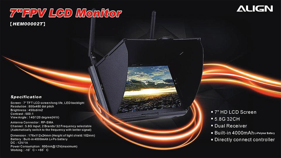 Align HEM00002T 7 FPV LCD Monitor
