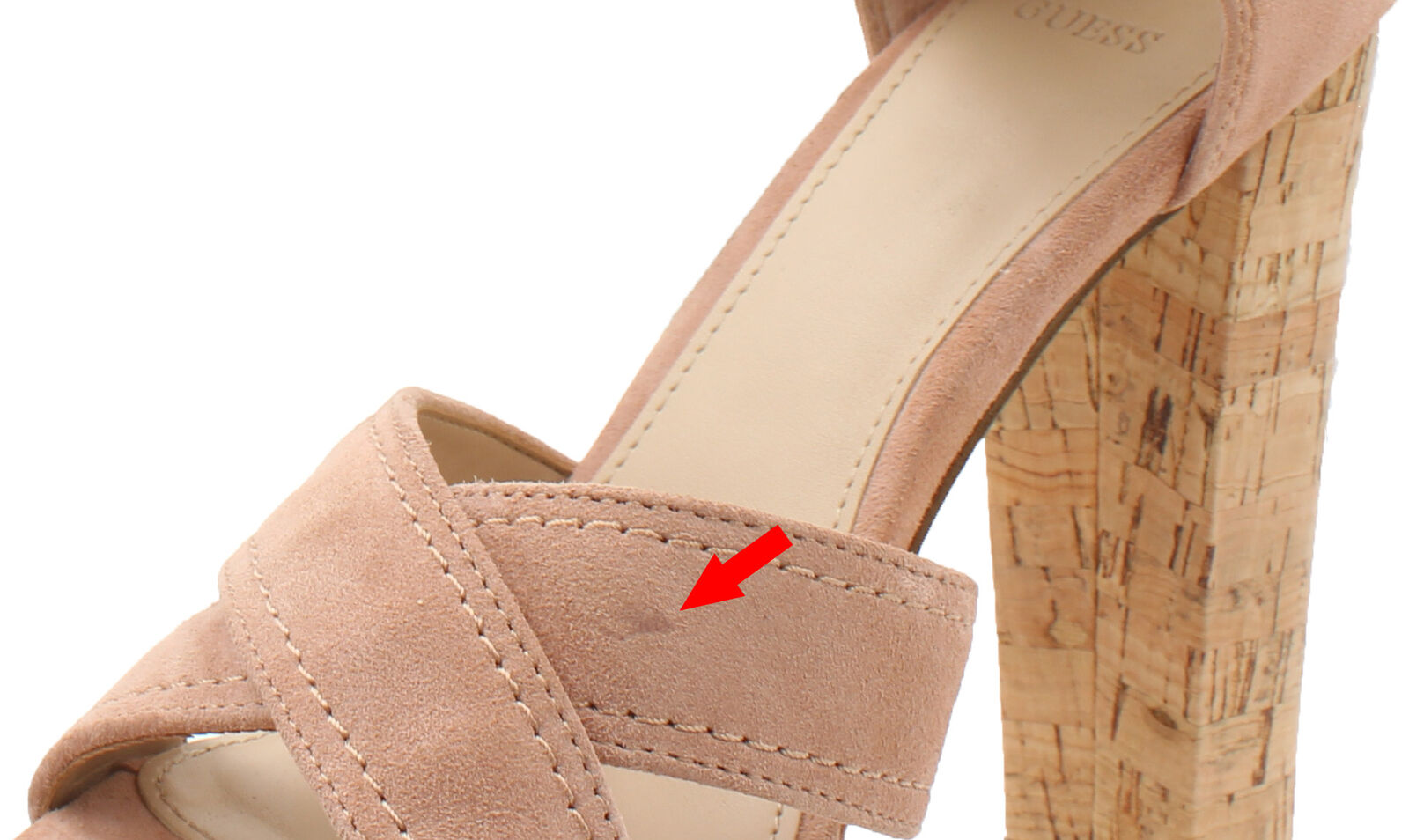 Guess Parris damen Suede Platform Sandal - New with Defect Defect Defect (Medium Rosa, 8) 6f4a5d