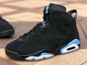 new arrival 79ab2 3fef9 Details about Nike Air Jordan 6 VI unc black Blue size 10 or 10.5 retro 2017