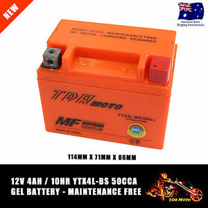 12v-4Ah-Motorbike-GEL-Battery-ATV-Quad-Dirt-Pit-Bike-50-70-110-125-cc-YTX4L-BS