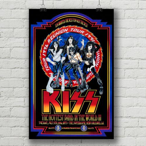 Kiss 1996 Reunion Tour concert poster  canvas print