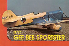 "Model Airplane Plans (RC): GEE BEE Mod D Sportster 56"" for .40ci by Henry Haffke"