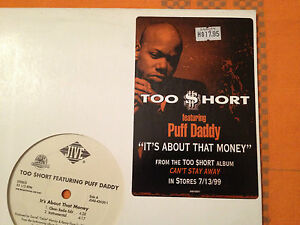TOO-SHORT-feat-Puff-Daddy-It-039-s-About-That-Money-1999-US-PROMO-12-034-EX-NM