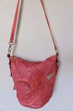 Marc by Marc Jacobs Damisi Alicia Bucket Bag Red Patchwork Leather Handbag