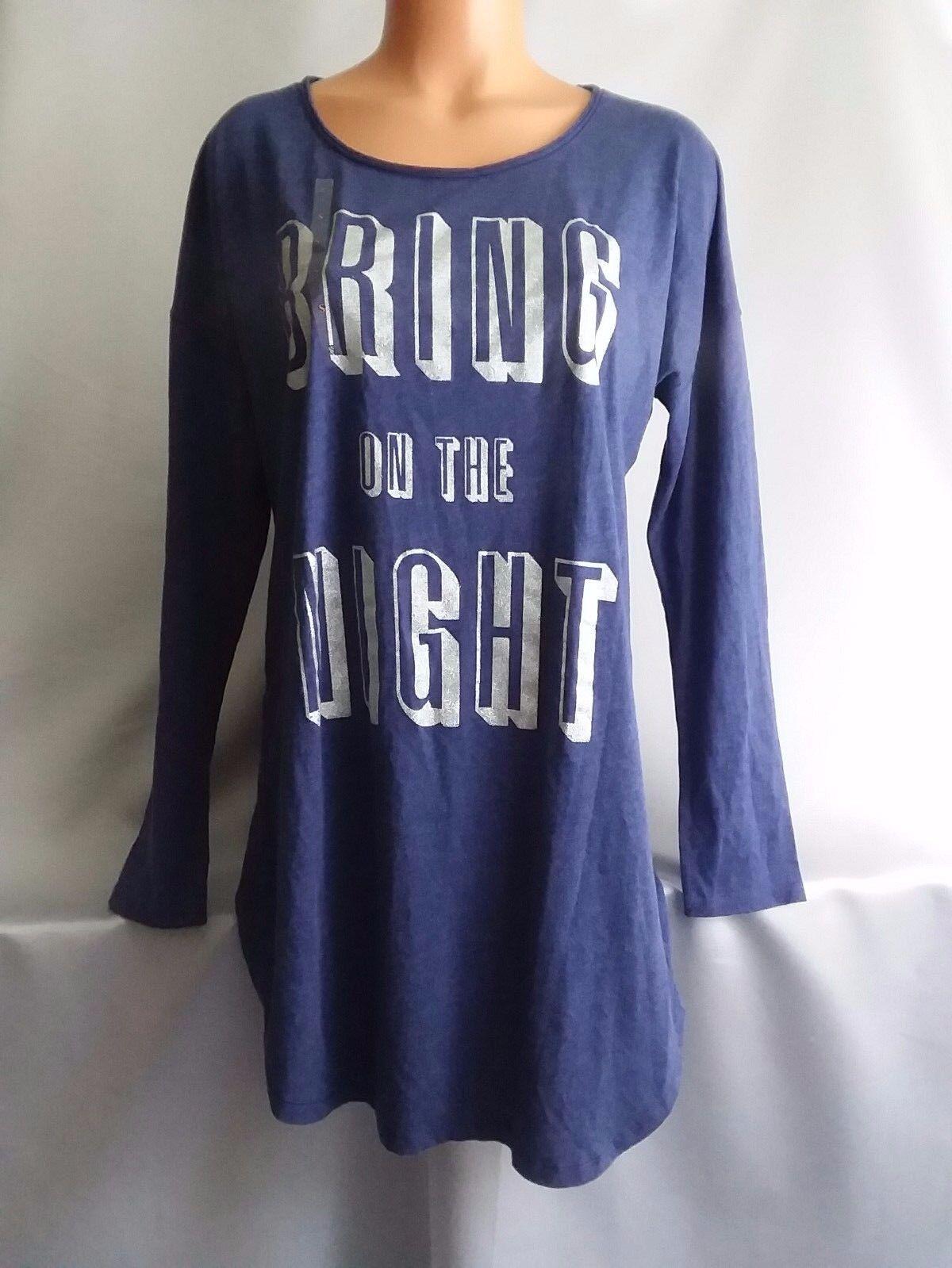 Victorias Secret GLITTER BLING  Sleepshirt Night Gown Pajamas NWT S