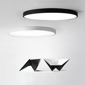 12-48W-Round-LED-Flush-Mount-Ceiling-Lights-Lamp-50mm-Thin-White-Warm-Neutral-D