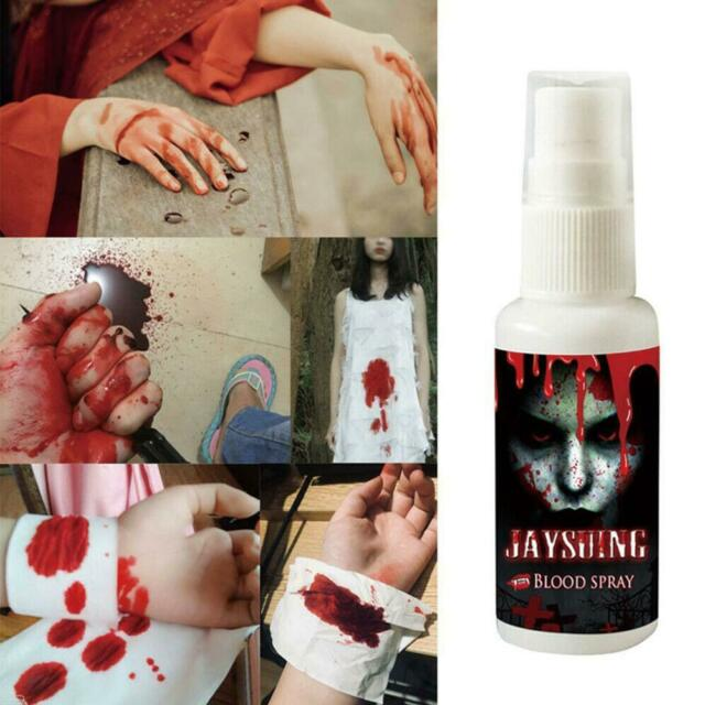 Halloween Ultra-realistic simulation of Fake Blood Spray Scary Blood Makeup 30ML