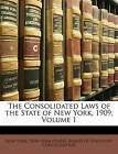 NEW The Consolidated Laws of the State of New York, 1909, Volume 1 by New York