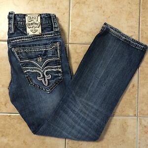 rock revival jeans mens 32 dysons slim boot denim