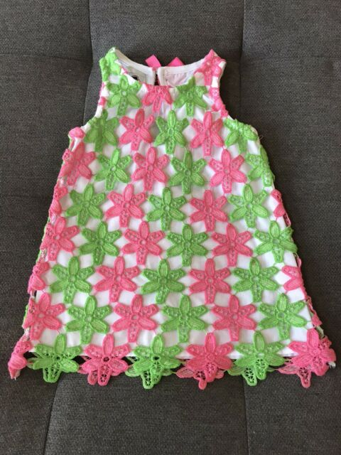 NWT Mud Pie Baby Little Sprout Ribbon Tab Dress 12-18m