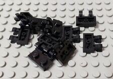 Lego Lot of 100 New Black Plates Modified 1 x 2 w// Arm Up Horizontal Arm Length