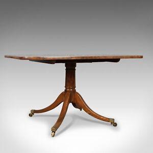 Antique-Breakfast-Table-English-Regency-Mahogany-Tilt-Top-Dining-Circa-1820