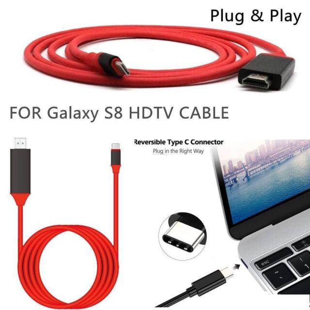 HDMI AV Video Adapter Cable Dongle To TV Stick For Samsung Galaxy A3 2017