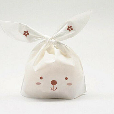 50pcs Cartoon Rabbit Snack Bag Plastic Candy box Gift Bags Wedding Party Decors