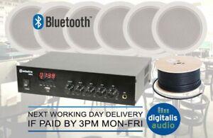 293e62b190575d 100V Line Bluetooth USB FM Amplifier Kit + 6 Speakers For Shop ...