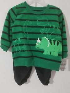 Little boys 3 piece jogging set black /& green various sizes New
