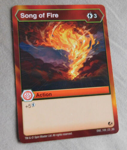 BAKUGAN Battle Brawlers Battle Planet SONG OF FIRE ACTION Card 109/_CO/_BB