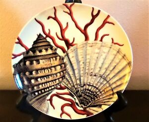 Potterybarn-Coastal-Curiosity-Collection-Coral-Shell-Salad-Plate-Red-Coral
