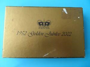 Trempé Golden Jubilee Cartes à Jouer - 1952 - 2002-coffret & Cartes ScellÉ - 2 Packs-afficher Le Titre D'origine RéTréCissable