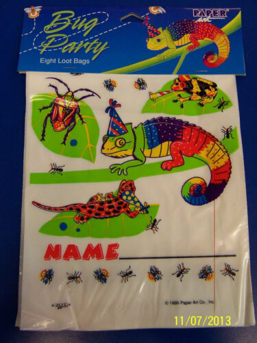 Bug Party Insect Lizard Animal Boys Kids Birthday Favor Treat Sacks Loot Bags