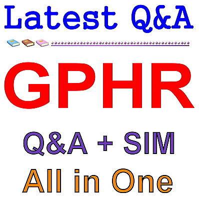 HRCI SPHR Senior Professional in Human Resources EXAM Test QA PDF+Simulator
